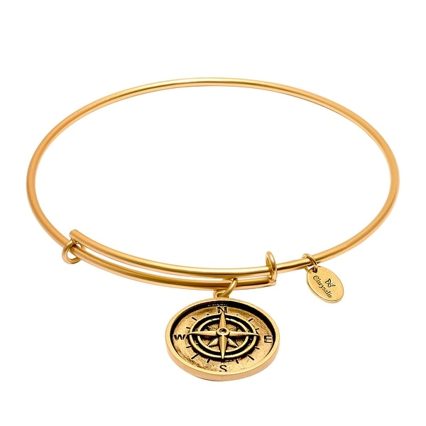 Chrysalis Expandable Compass Bangle Bracelet in 14K Gold-Plated Brass - YELLOW