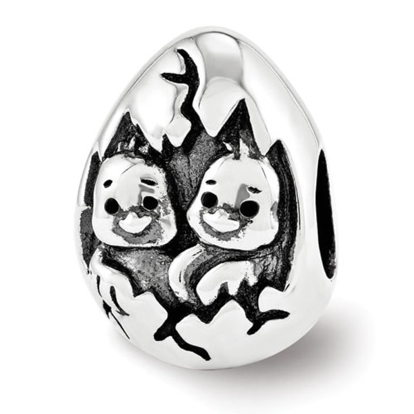 Sterling Silver Reflections Easter Chicks Bead (4mm Diameter Hole)