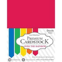 "Core'dinations Value Pack Smooth Cardstock 8.5""X11"" 50/Pkg-Over The Rainbow"