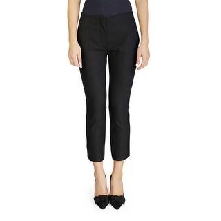 Prada Women's Virgin Wool Slim Fit Pants Black