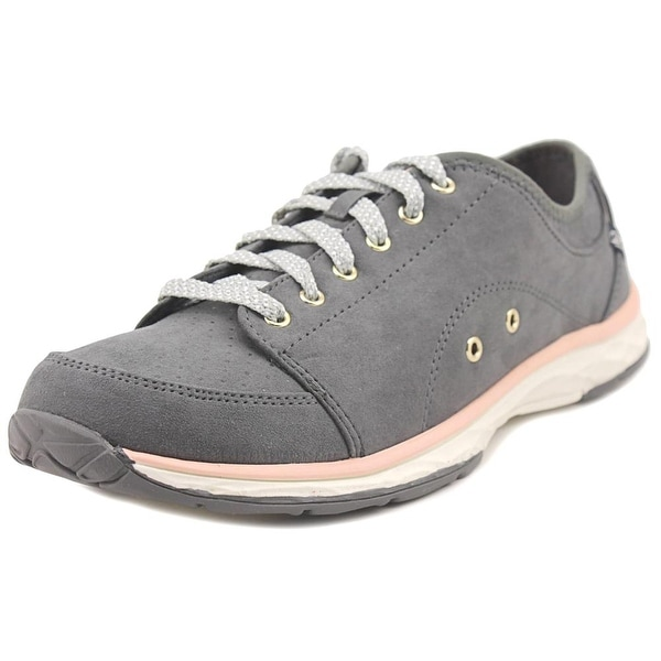 Dr. Scholl's Anna Women Round Toe Suede Gray Sneakers