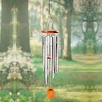 """Bamboo Wood & Aluminum Wind Chimes - Tuned to Amazing Grace - 25"""" Long - 25 in."""