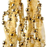 Gold Bead and Ribbon Garland