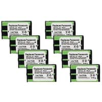 Replacement Panasonic HHR-P104 NiMH Cordless Phone Battery (8 Pack)