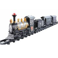 17-Piece Consumate Model Battery Operated Lighted & Animated Classic Train Set with Sound