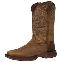 "Durango Western Boots Mens 12"" Rebel Pull On Square Toe Brown"