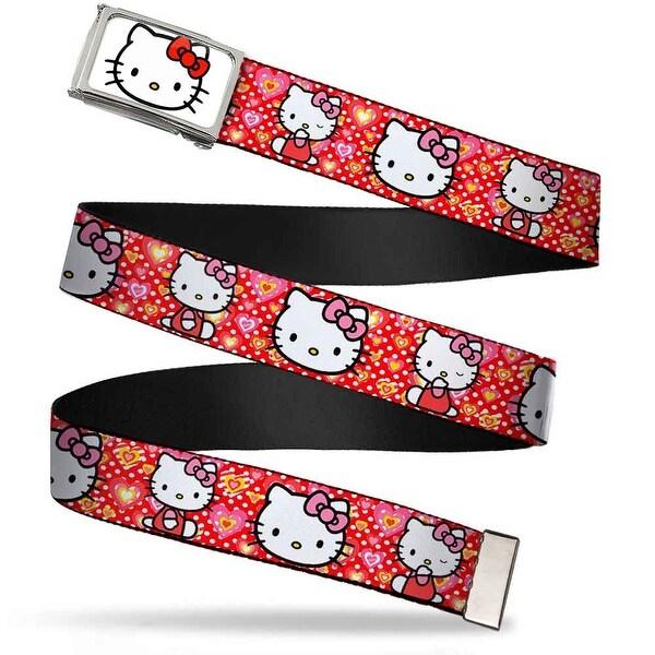 Hello Kitty Face Fcg White Chrome Frame Hello Kitty Valentine's Day 2 Web Belt