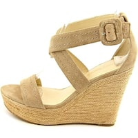 Marc Fisher Womens Haely Leather Open Toe Casual Espadrille Sandals