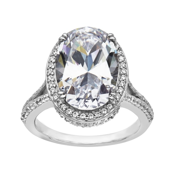 Ring with 5 ct Cubic Zirconia in Sterling Silver