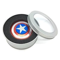 Fidget Spinner Aluminum Metal Premium Quality -Red, Silver, Blue - Red