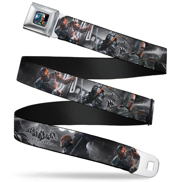 Arkham Origins Deathstroke Face Close Up Full Color Batman Arkham Origins Seatbelt Belt