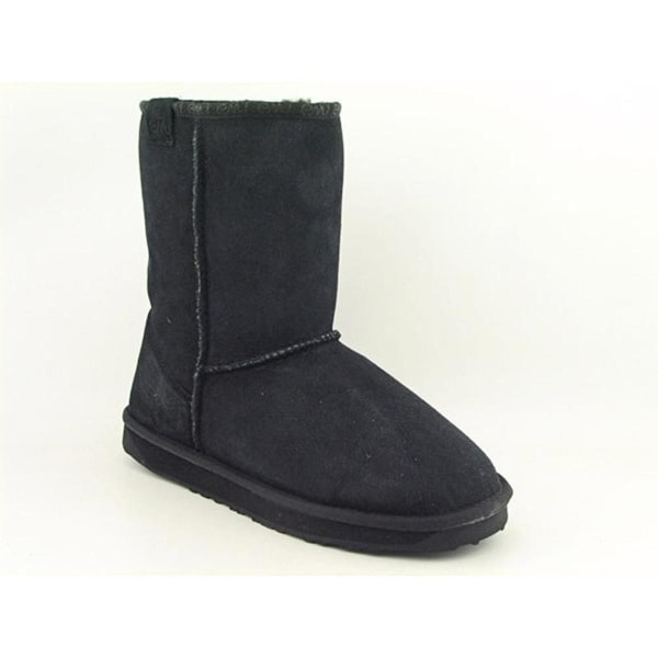 Emu Australia Stinger Lo Women Round Toe Suede Black Snow Boot