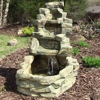 Sunnydaze Electric Outdoor Stone Falls Garden Patio Water Fountain - 37inch tall