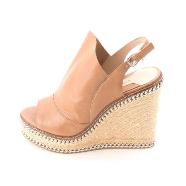 Carolinna Espinosa Womens PURE Leather Open Toe Casual Platform Sandals