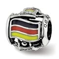 Sterling Silver Reflections Enameled Germany Theme Bead (4.5mm Diameter Hole) - Thumbnail 0