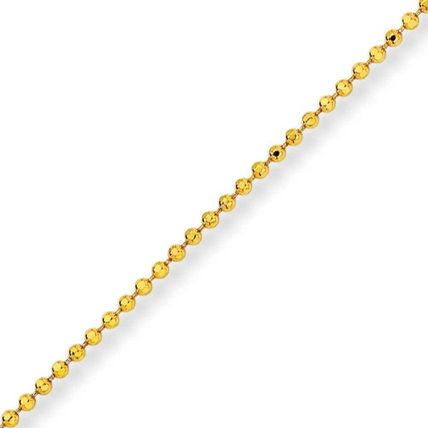 Chisel Yellow Rhodium over Brass 2.00mm Plated Ball Chain - 16 Inches (2 mm) - 16 in