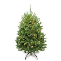 4' Pre-Lit Northern Pine Full Artificial Christmas Tree - Clear Lights