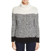 Two by Vince Camuto Womens Sweater Cowl Neck Colorblock