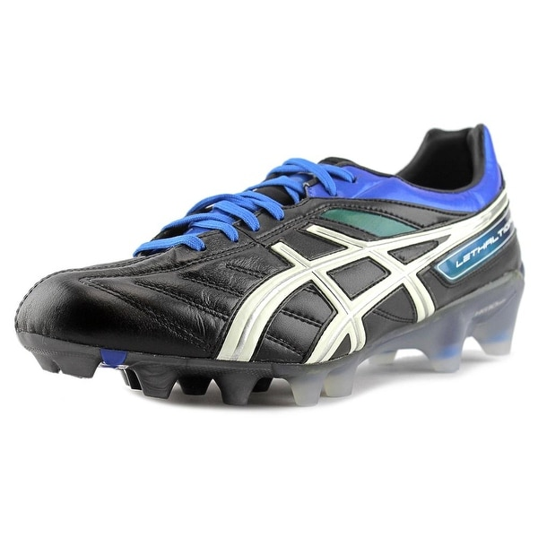 Asics Lethal Tigreor 4 IT Soccer Cleats Men Round Toe Synthetic Black Cleats