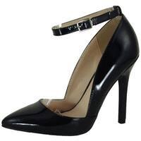 Qupid Women's Potion-90 Pumps Shoes - black patent pu