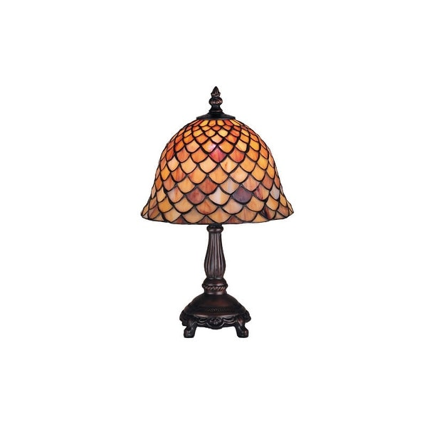 Meyda Tiffany 67378 Stained Glass / Tiffany Accent Table Lamp from the Fishscale Collection - n/a