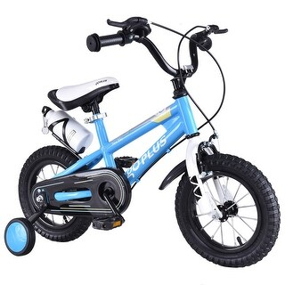 Goplus 16'' Freestyle Kids Bike Bicycle Children Boys & Girls w Training Wheels Blue