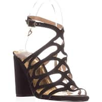 TS35 Kiarah Block-Heel Dress Sandals, Black
