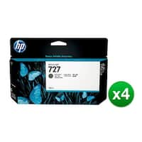 HP 727 130-ml Matte Black DesignJet Ink Cartridge (B3P22A) (4-Pack)