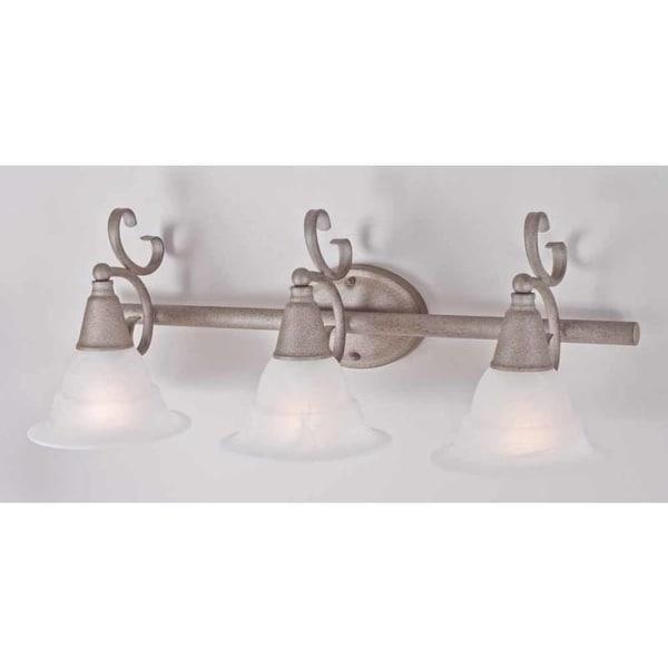 """Volume Lighting V1773 Toledo 3 Light 27.5"""" Width Bathroom Vanity Light"""