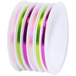 "Cerise & Lime - Multi-Channel Metallic Ribbon 1/8""X75'"
