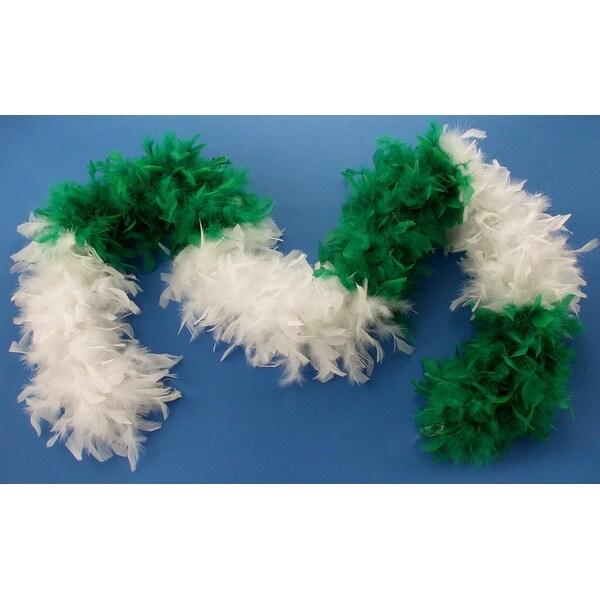 St Patricks Day Green And White Costume Boa