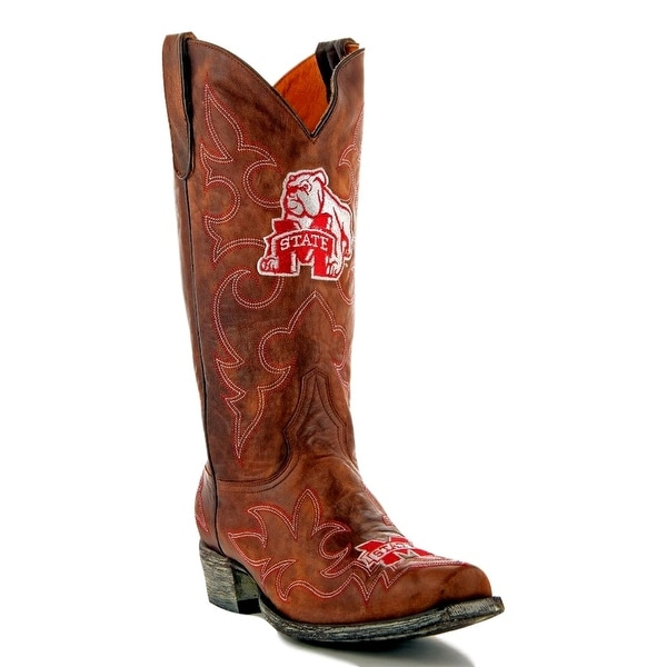 Gameday Boots Mens College Mississippi State Bulldogs Brass