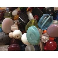 Stanislaus Imports Clear Glass Bead Assortment, 1 lb