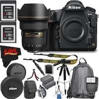 Nikon D850 DSLR Camera (Body Only) 1585 + Nikon AF-S NIKKOR 14-24mm f/2.8G ED Lens + Sony G Series 32GB XQD Memory Card Bundle