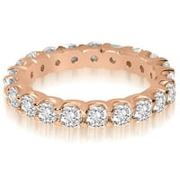 14K Rose Gold 2.00 cttw. Round Shared Prong Diamond Eternity Ring HI,SI1-2