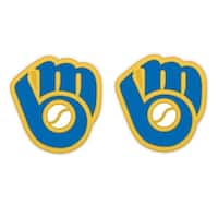 Milwaukee Brewers Retro Glove Logo Post Earrings