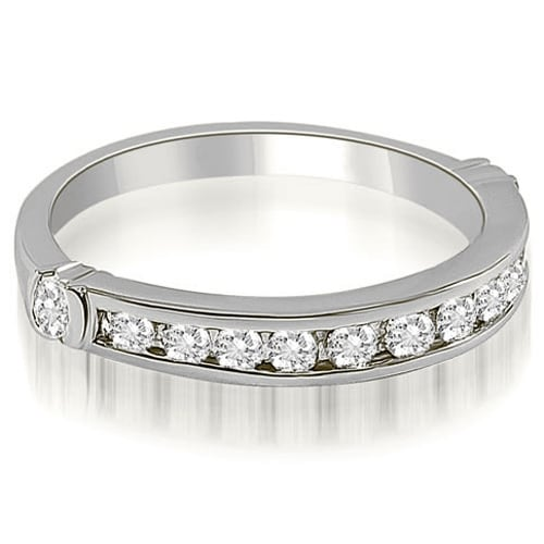 0.45 cttw. 14K White Gold Classic Round Cut Diamond Wedding Band