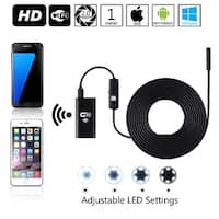 Wireless Endoscope WiFi Borescope Inspection Camera 2.0 Megapixels HD Snake Camera for Android & iOS & - Black(1 Meter)