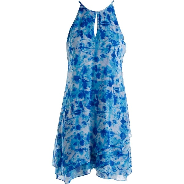 Calvin Klein Womens Party Dress Halter Printed
