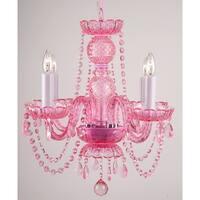 Pink Crystal Chandelier Light Lighting Fixture