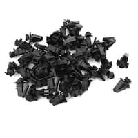 50 Pcs Black Expanding Screw Plastic Rivets Fastener for Auto Car