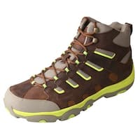 Twisted X Western Boots Men Hiker Lace Neon Distressed Saddle