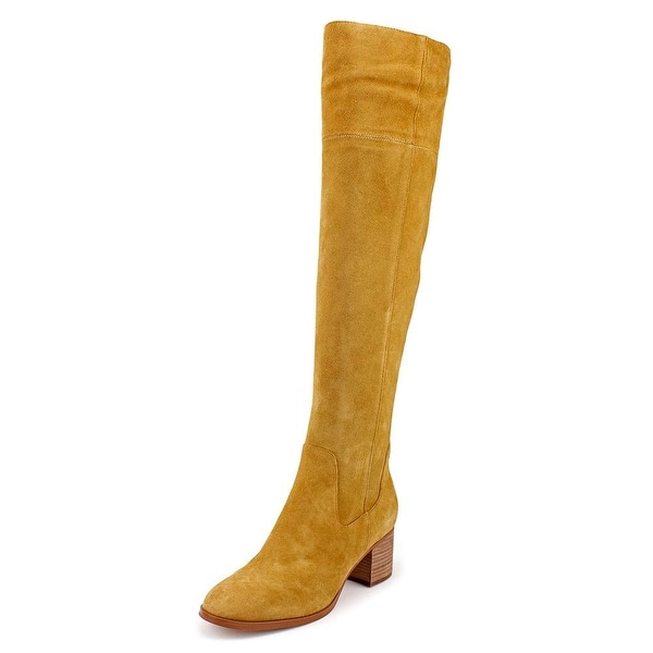 Marc Fisher Escape Women Round Toe Suede Brown Over the Knee Boot