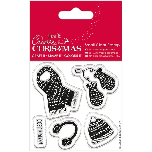 Papermania Create Christmas Small Clear Stamps-Warm & Cozy