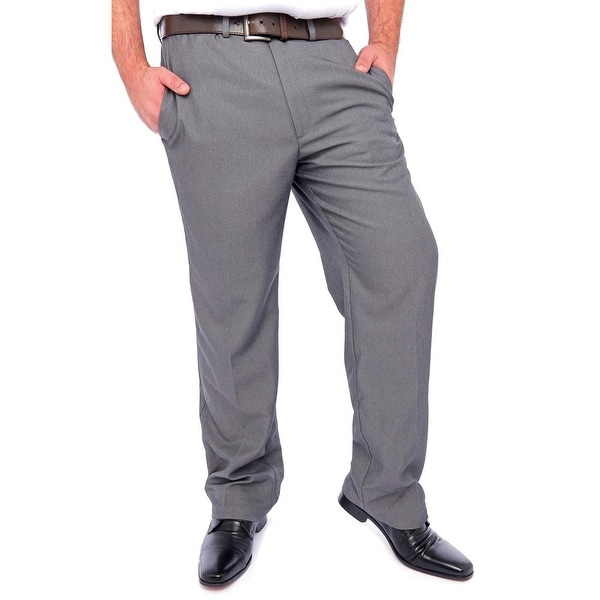 Haggar Clothing Cool 18 Classic Fit Zip Fly with Button Dress Pants