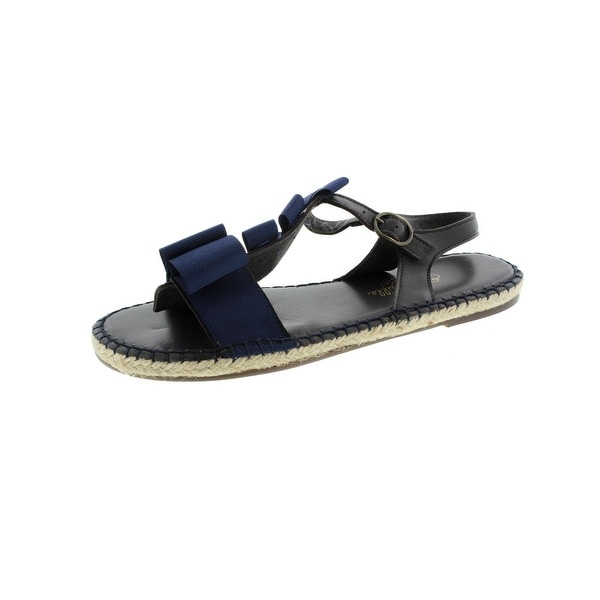 Escadrille Womens Les Aventines Slingback Sandals Bow Espadrille - 41