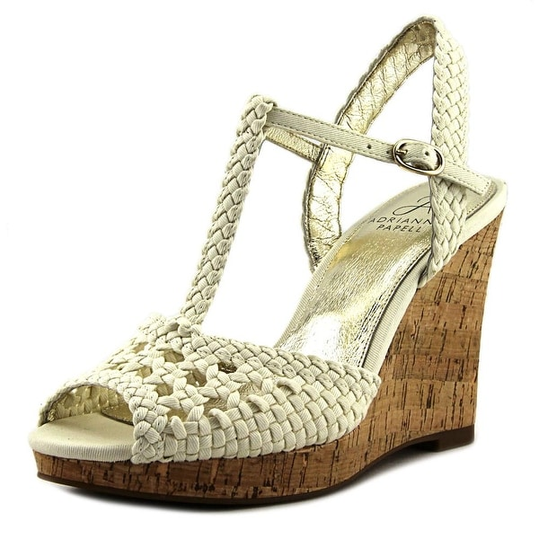 Adrianna Papell Franklin Women Open Toe Canvas Wedge Sandal