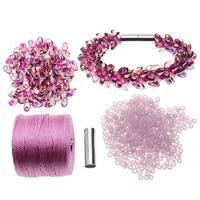 Refill - Deluxe Beaded Kumihimo Bracelet (Pink Iris) - Exclusive Beadaholique Jewelry Kit