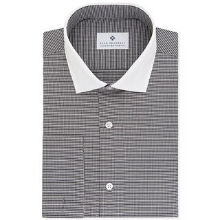 Ryan Seacrest Distinction Men's Slim-Fit Non-Iron Gray French Cuff Dress Shirt 15.5 32X33
