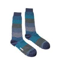 Missoni GM00CMU5237 0003 Blue/Green Knee Length Socks